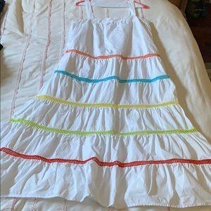 EUC English Factory white multicolor detail dress
